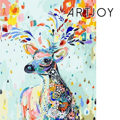 아트조이 DIY 명화그리기 행운 꽃사슴-5 40x50cm