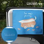우븐트리 차량용 양면 자석 햇빛가리개 핫도그의 여행