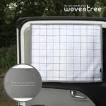 우븐트리 차량용 양면 자석 햇빛가리개 스퀘어 체크