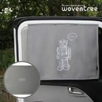 우븐트리 차량용 양면 자석 햇빛가리개 삐리삐리봇