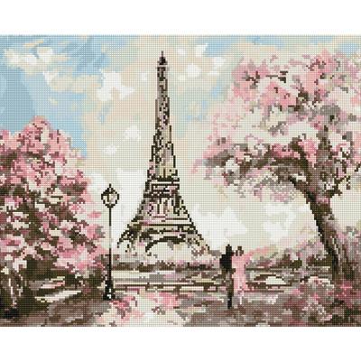 아트조이 DIY 보석십자수 액자형 봄에 물든 에펠탑 50X40cm