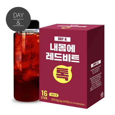 데이앤 레드비트스틱분말1gX16포+보틀1개