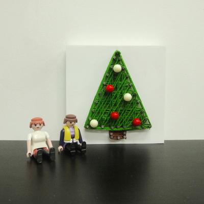 꼬마 트리 스트링아트 만들기 패키지 DIY (EVA)