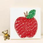 꼬마 사과 스트링아트 만들기 패키지 DIY (EVA)