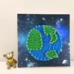 꼬마 지구 스트링아트 만들기 패키지 DIY (EVA)