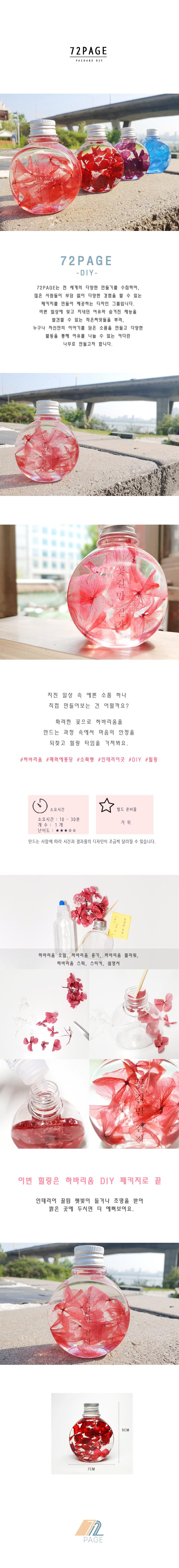 원형 분홍 수국 하바리움 만들기 패키지 DIY - 72페이지, 10,000원, 조화, 프리저브드