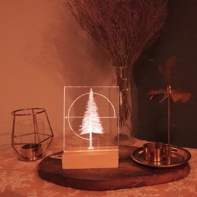 크리스마스 트리 아크릴 무드등 만들기 패키지 DIY