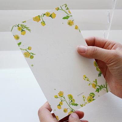 생일축하 엽서 (들꽃)