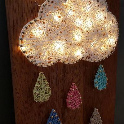 구름비 스트링아트(우드 LED)