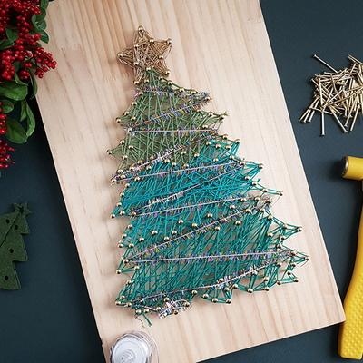 크리스마스 트리 스트링아트(우드 LED)