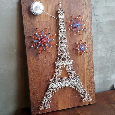 에펠탑 스트링아트(우드 LED)