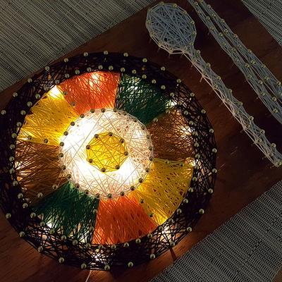 비빔밥 스트링아트(우드 LED)