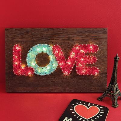 LOVE 스트링아트(우드 LED)