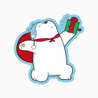 위 베어 베어스 크리스마스 카드 - 아이스베어