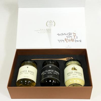 380g - 국산 천연 벌꿀 설 선물 세트