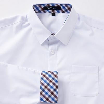 교복 와이셔츠 블루브라운체크