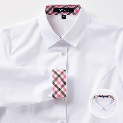 교복 여자셔츠 체리브라운체크 카라 2style