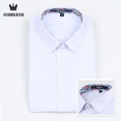 남자 교복 와이셔츠 멀티민트 체크