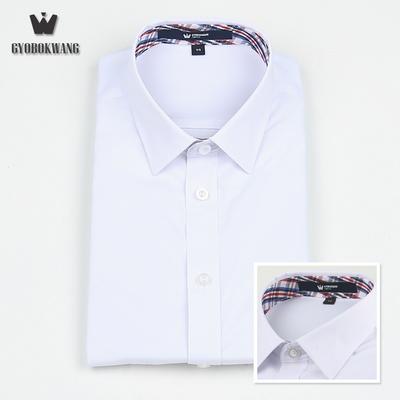 남자 교복 와이셔츠 유니크 체크