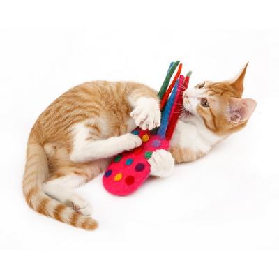 꼬시캣 캣닢 아로마 울장난감  - 엠앤엠즈 문어 (양모장난감-양한 칼라)