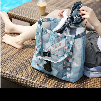 메쉬 숄더 망사 여름 비치백 목욕 수영가방
