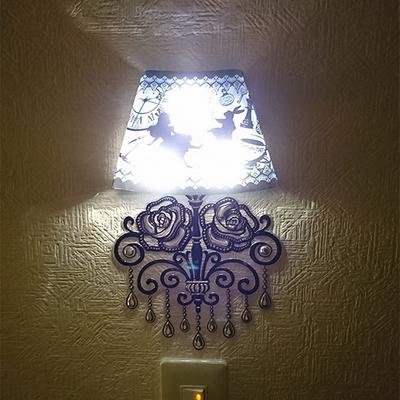 자동점등 LED 벽 장식 조명 스티커