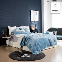 [아카시아]모그극세사양털침구세트-블루(180x210)