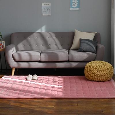 겨울 극세사 카페트 - 핑크 115X210