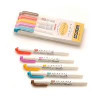 제브라 마일드라이너 트윈형광펜 (따뜻한느낌) 5색세트 (WKT7-5C-RC)