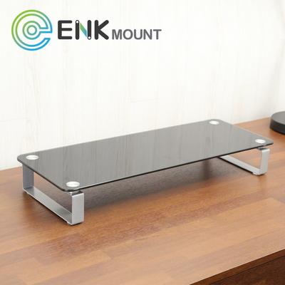 엔키마운트 모니터받침대 ENK-DS20 다크강화유리 스탠드