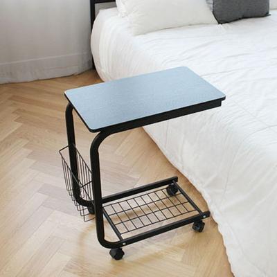 DIY 이동식 사이드 테이블-블랙