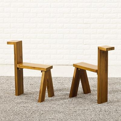 포리드 아카시아 원목 의자 2개