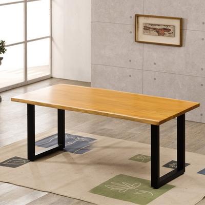 마호가니 우드슬랩 테이블 1800