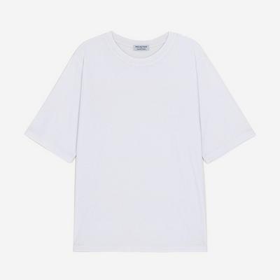WOMEN 베이직 루즈핏 라운드 티셔츠(화이트)