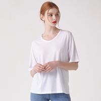 WOMEN 베이직 루즈핏 U넥 티셔츠(화이트)
