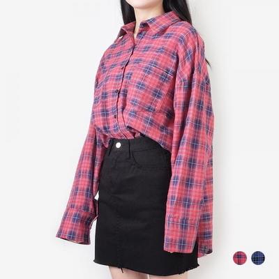 부루앤쥬디 캐쥬얼체크 셔츠 B1KD1SH003
