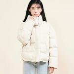 코튼캔디 트임절개 숏패딩 아이보리
