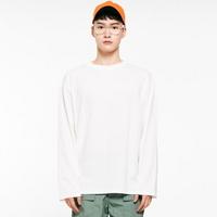(UNISEX) 썸머 코튼 소프트 롱슬리브 티셔츠 화이트
