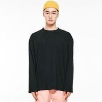 (UNISEX) 썸머 코튼 소프트 롱슬리브 티셔츠 블랙