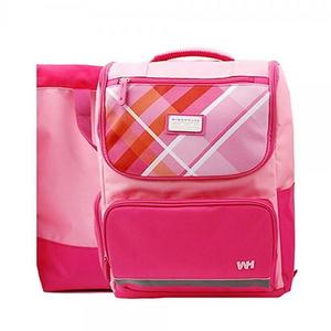 WH0373 핑크체크 책가방세트