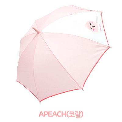카카오프렌즈팝 55 베이직 한폭POE우산-어피치(코랄)