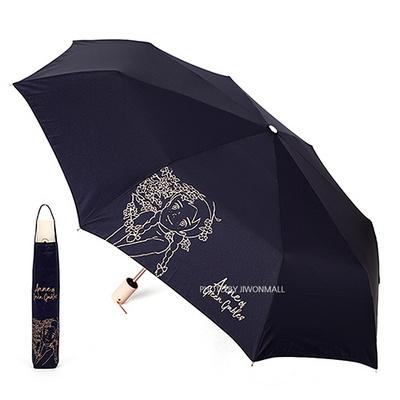 빨강머리앤 클래식 골드 실크 완전자동우산-네이비