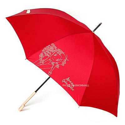 빨강머리앤 클래식 골드 실크 60 우산-레드