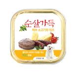 허브소고기 순살과 치즈캔 100g