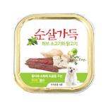 허브소고기와 닭고기 순살캔 100g