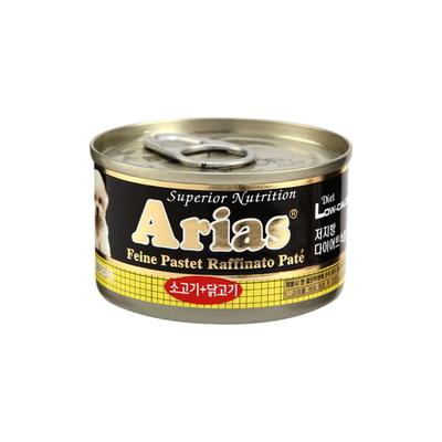 아리아스 소고기닭고기 원형캔  100g