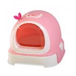 마칼 버블캣 후드형 고양이화장실 핑크