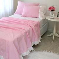 체크 리플-Pink(홑겹이불)