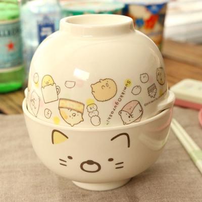 스밋코구라시 공기 대접 세트 (고양이)