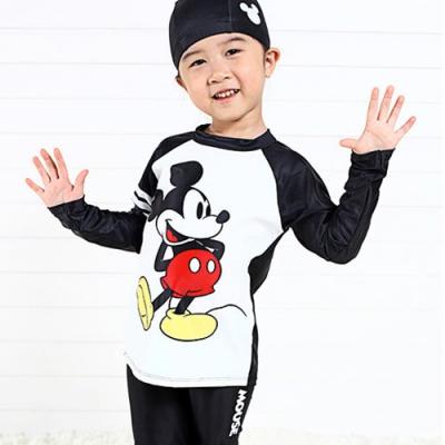 디즈니 미키마우스 래쉬가드 수영복 세트 (블랙)